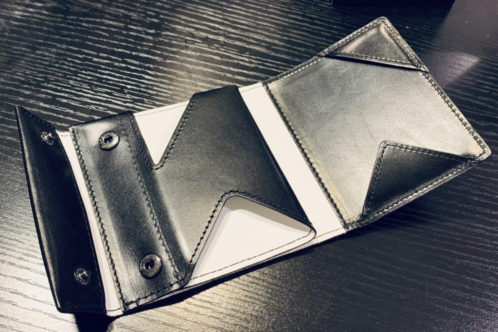 アブラサス薄い財布ローランドモデルの写真(展開図上)