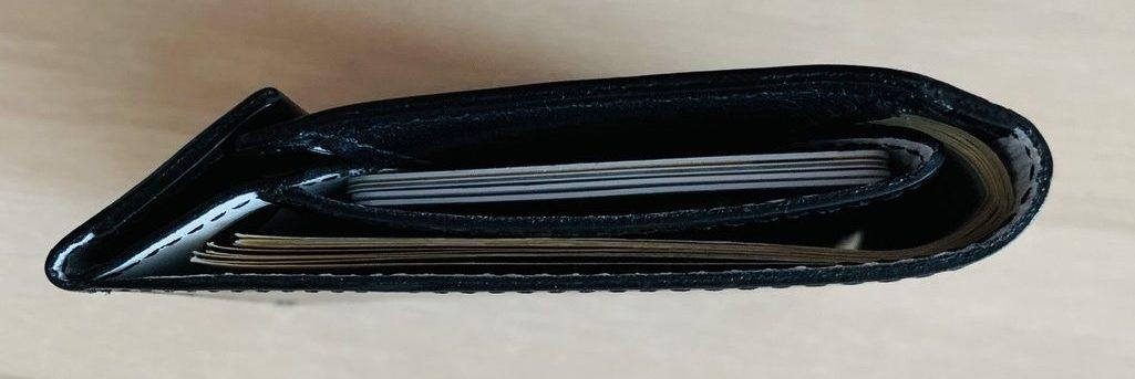 アブラサス薄い財布ローランドモデルの写真(側面図)