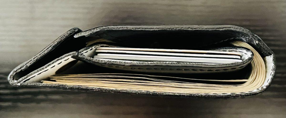 アブラサス薄い財布ローランドモデルの写真(側面部)