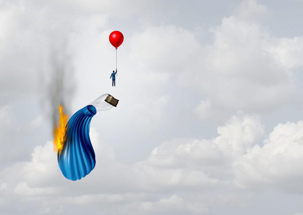 燃える気球からの脱出