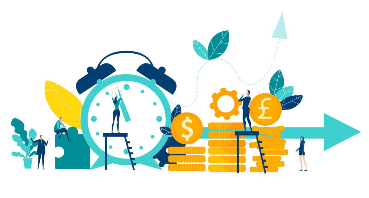 時間とお金の関係を表す練習